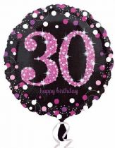 Foliopallo 30 happy birthday