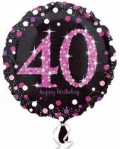 Foliopallo 40 Happy birthday