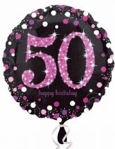 Foliopallo 50 Happy birthday