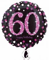 Foliopallo 60 Happy birthday