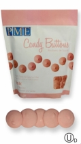 PME Candy Buttons, vaaleanpunainen, 340 g