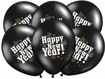 Happy New Year ilmapallot, 6 kpl/pkt