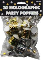 party poppers hologrammi